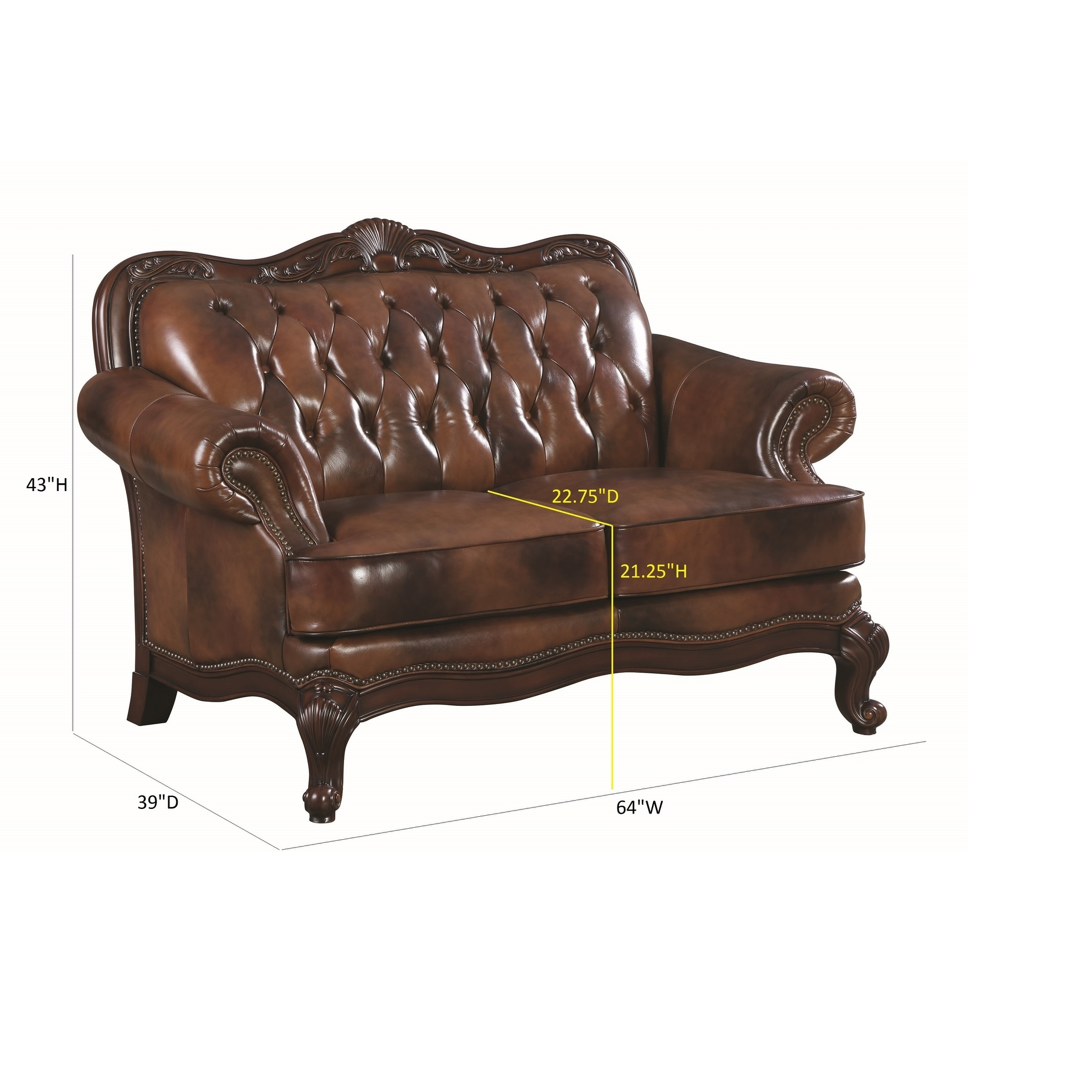 Coaster Company Brown Leather Tufted