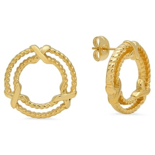 18k Yellow Goldplated Rope Studs