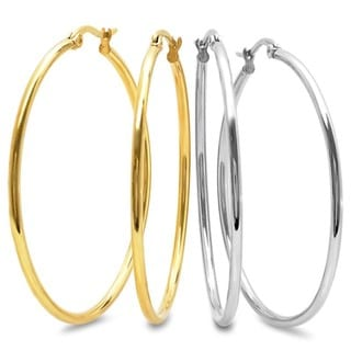 Link to Set of 2 50mm Hoops Similar Items in Earrings