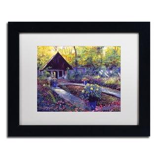 David Lloyd Glover 'Blue Garden Impression' Matted Framed Art