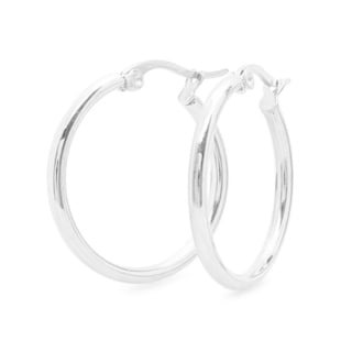 Silvertoned 10mm Hoops