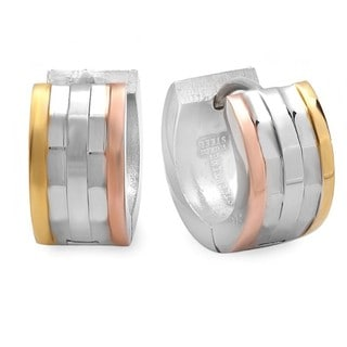 Link to Gold Plated Tri-tone Rugged Saddleback Similar Items in Earrings