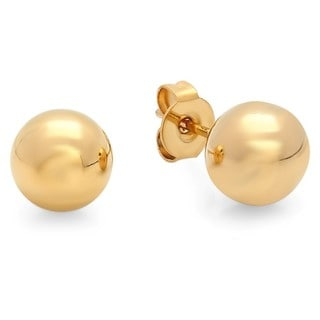 Piatella Stainless Steel 8-millimeter Ball Studs