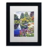 David Lloyd Glover 'Tea House Lake' Matted Framed Art