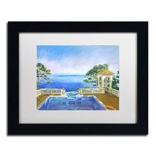 David Lloyd Glover 'Cap Martin, Monaco' Matted Framed Art