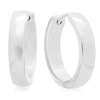 20Mm Classic Stainless Steel Hypoallergenic Clasps Earrings