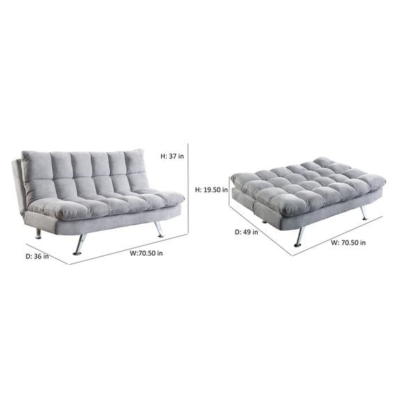 Pleasant Coaster Company Grey Pillow Top Sofa Bed 70 50 X 49 X 19 50 Gamerscity Chair Design For Home Gamerscityorg