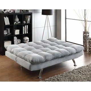 Grey Pillow-top Sofa Bed