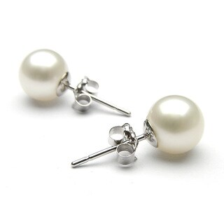 Faux Pearl Stainless Steel Hypoallergenic Studs (2 options available)
