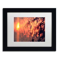 Beata Czyzowska Young 'Sunset Wishes' Matted Framed Art