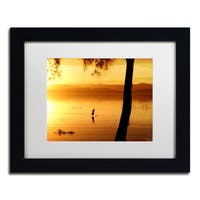 Beata Czyzowska Young 'Sunset Journey' Matted Framed Art