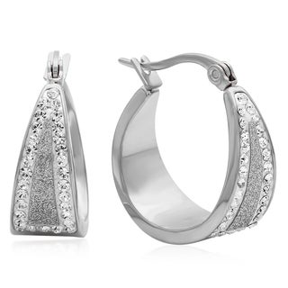 Swarovski Elements Glitter Hoop Earrings