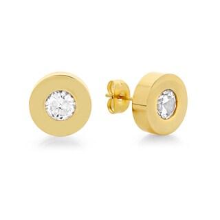 Swarovski Elements Silvertone Stud Earrings
