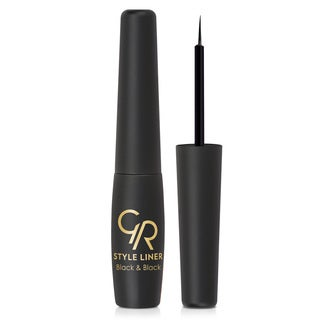 Golden Rose Style Liner Black & Black Shiny Eyeliner