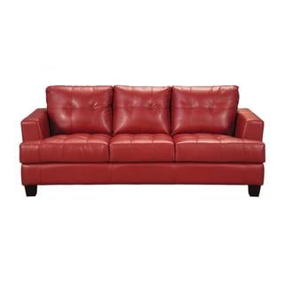Coaster Company Red Bonded Leather Sofa