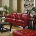 Coaster Company Red Bonded Leather Sofa