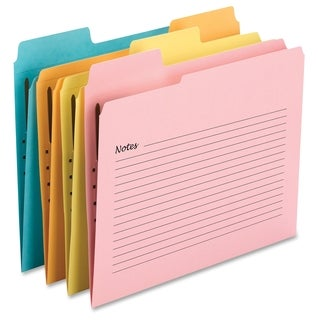 Smead SuperTab Notes Fastener Folders - Assorted (24/Pack)