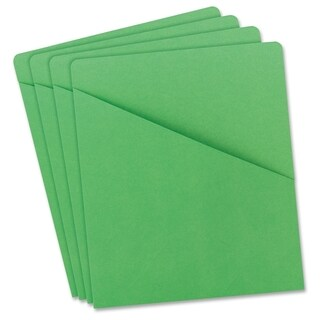 Smead 75432 Green Slash Jackets - Green (25/Pack)