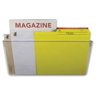 Storex Magnetic Wall File Pockets - Clear