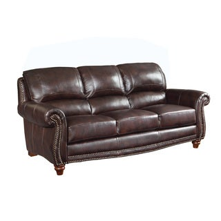 Coaster Company Burgundy Leather Sofa