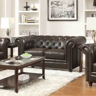 Coaster Company Brown Bonded Leather Loveseat/Sofa