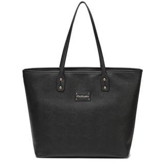 Colorland Black Leather Tote Diaper Bag