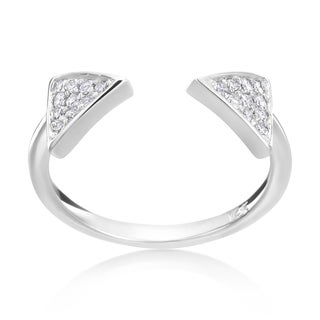 Andrew Charles 14k White Gold 1/4ct TDW Diamond Open Triangle Ring