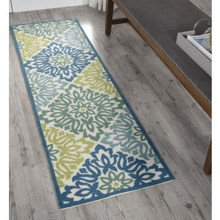 Waverly Sun N' Shade Sweet Things Marine Area Rug (1'10 x 6') by Nourison