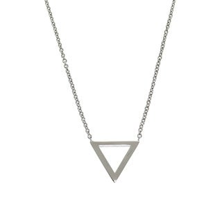 Eternally Haute Brass Triangle Necklace