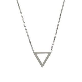 Eternally Haute Brass Triangle Necklace