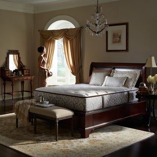 Downton Abbey Edwardian Lace Medium-Firm Luxury Full XL-size Mattress Set