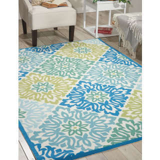 Waverly Sun N' Shade Sweet Things Marine Area Rug (3' x 5') by Nourison