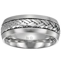 Men's Stainless Steel Woven Center Band