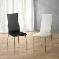 Clay Alder Home Antioch Modern Leatherette Dining Chairs (Set of 2)