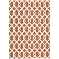 Waverly Sun N' Shade Centro Campari Indoor/ Outdoor Rug by Nourison (4'4 x 6'11)