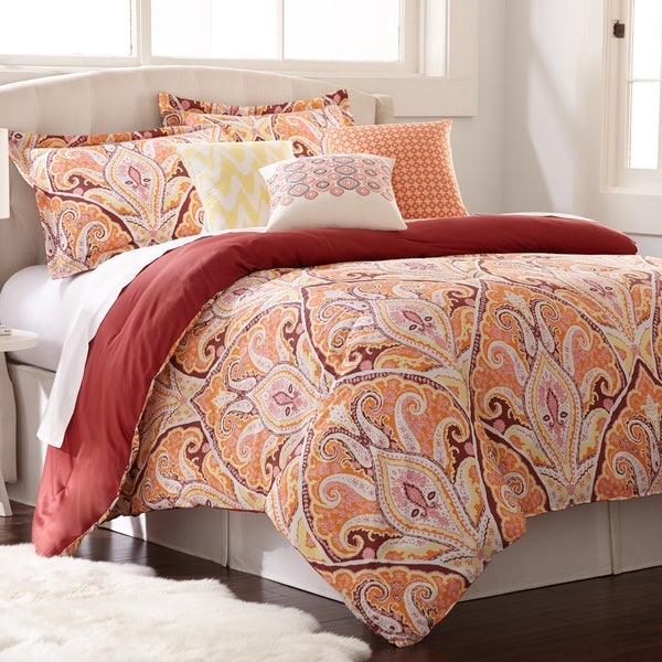 Amraupur Overseas Paisley Cotton 6-piece Comforter Set