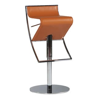 Somette Leather Pneumatic Gas Lift Adjustable Swivel Stool