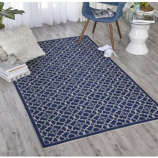 Waverly Sun N' Shade Lovely Lattice Midnight Area Rug (4'4 x 6'11) by Nourison