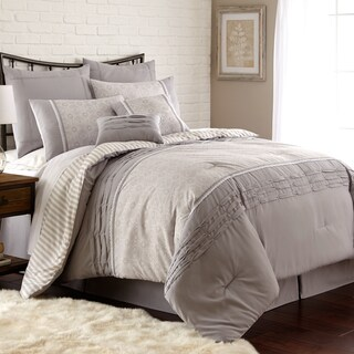 Amraupur Overseas Camila Pleated 8-piece Comforter Set