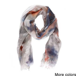 Handmade Saachi Women's Coton and Linen Blend Tie-Dye Scarf (China)