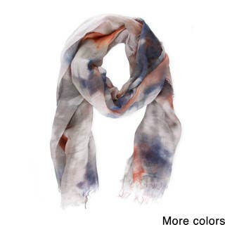 Handmade Saachi Women's Coton and Linen Blend Tie-Dye Scarf (China)|https://ak1.ostkcdn.com/images/products/12190033/P19038895.jpg?impolicy=medium