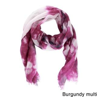 Saachi Women's Coton and Linen Blend Tie-Dye Scarf (China)