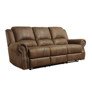 Coaster Company Brown Microfiber Reclining Sofa