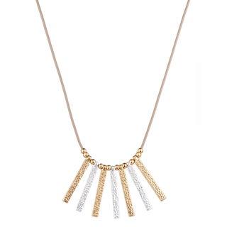 Handmade Saachi Stick Pendant Leather Necklace (China)