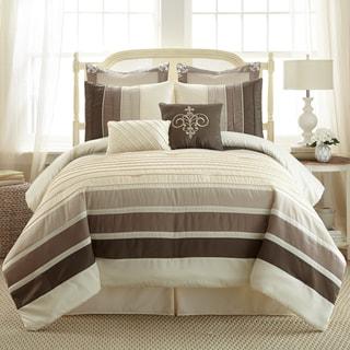 Amraupur Overseas Rue De Temple Pleated 8-piece Comforter Set