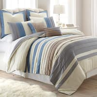 Amraupur Overseas Penny Lane Pleated 8-piece Comforter Set