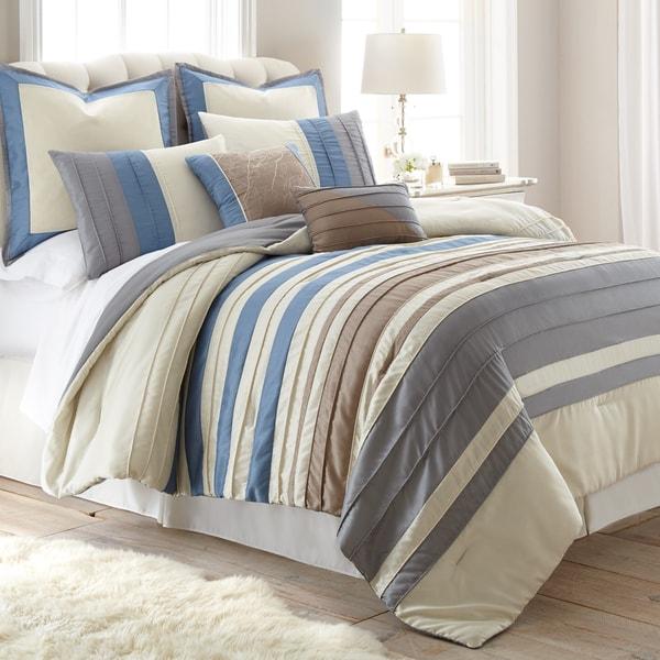 Amraupur Overseas Penny Lane Pleated 8-piece Comforter Set