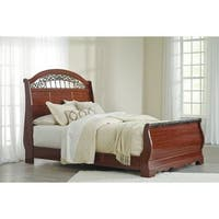 Signature Design by Ashley Fairbrooks Estate Brown Queen Sleigh Bed