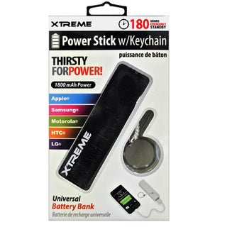 Black 1800 mAh Universal Power Stick