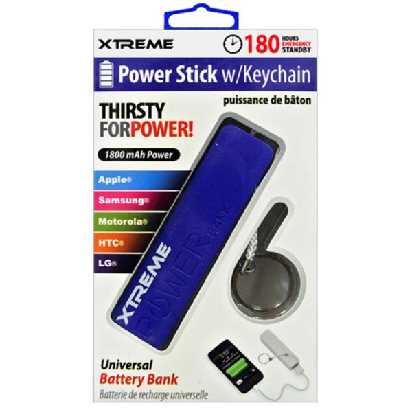 1800mAh Universal Power Stick - Blue